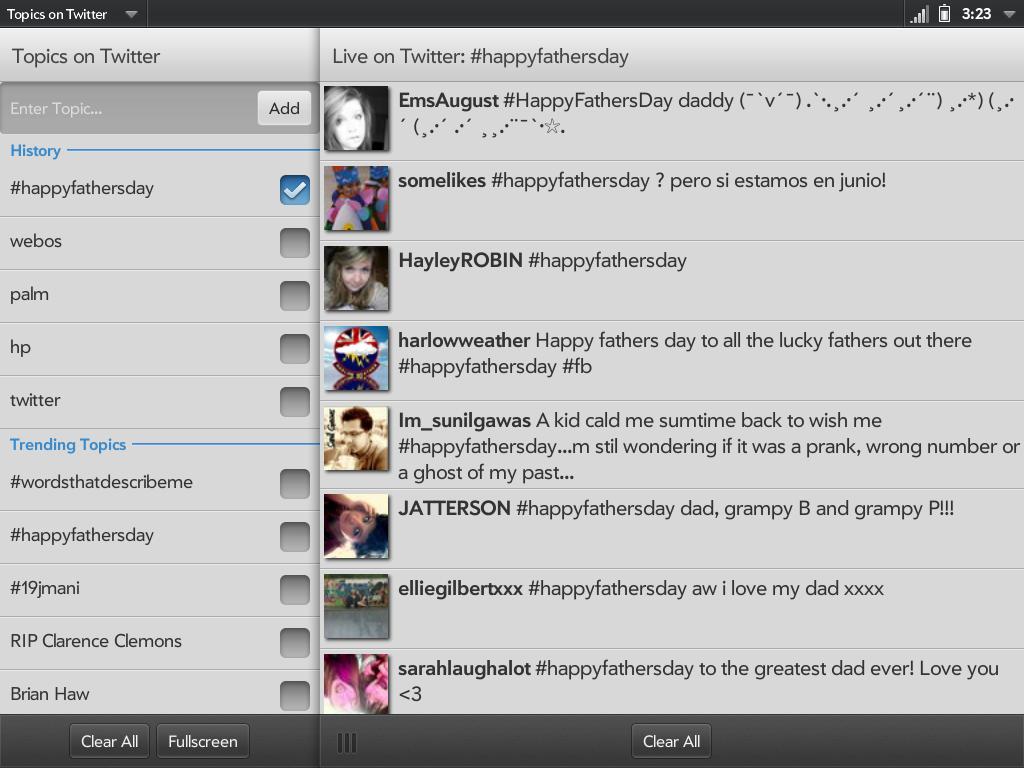 Topics on Twitter Screenshot 0