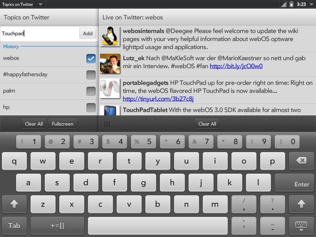 Topics on Twitter Screenshot 2