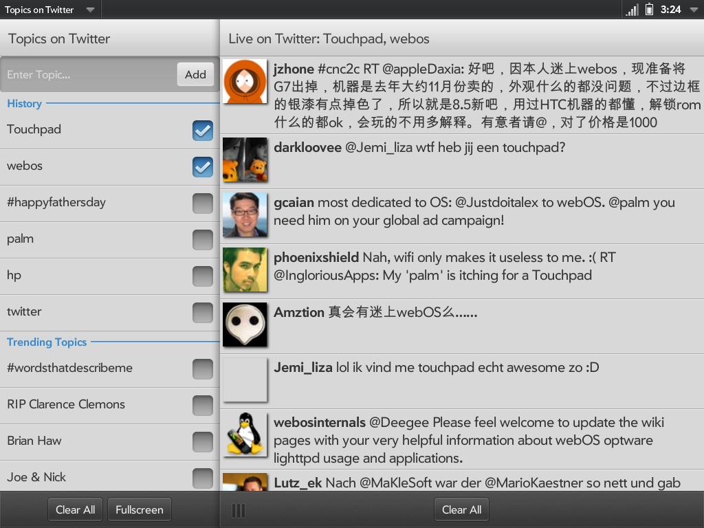 Topics on Twitter Screenshot 3