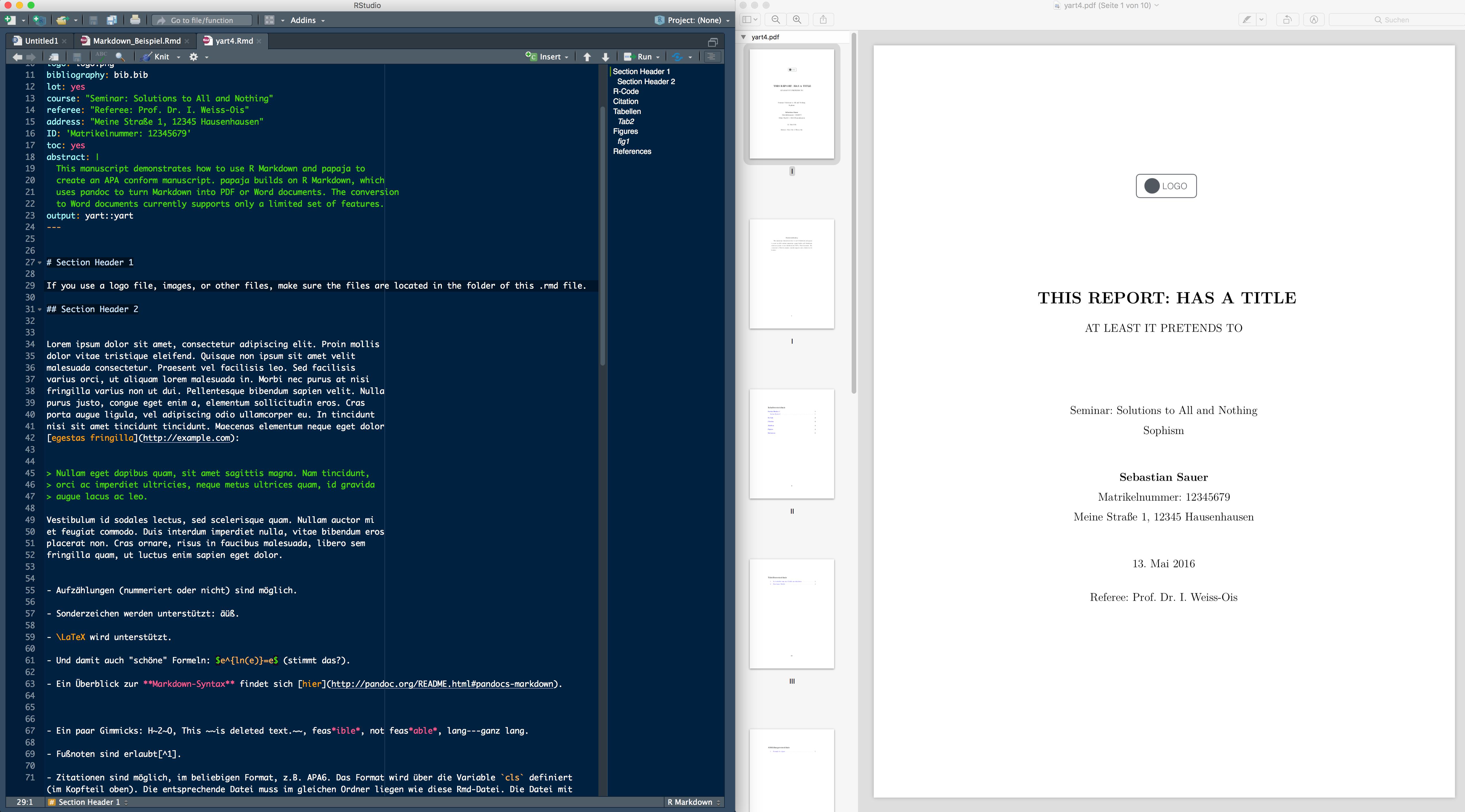 GitHub - sebastiansauer/yart: RMarkdown Template for writing PDF reports