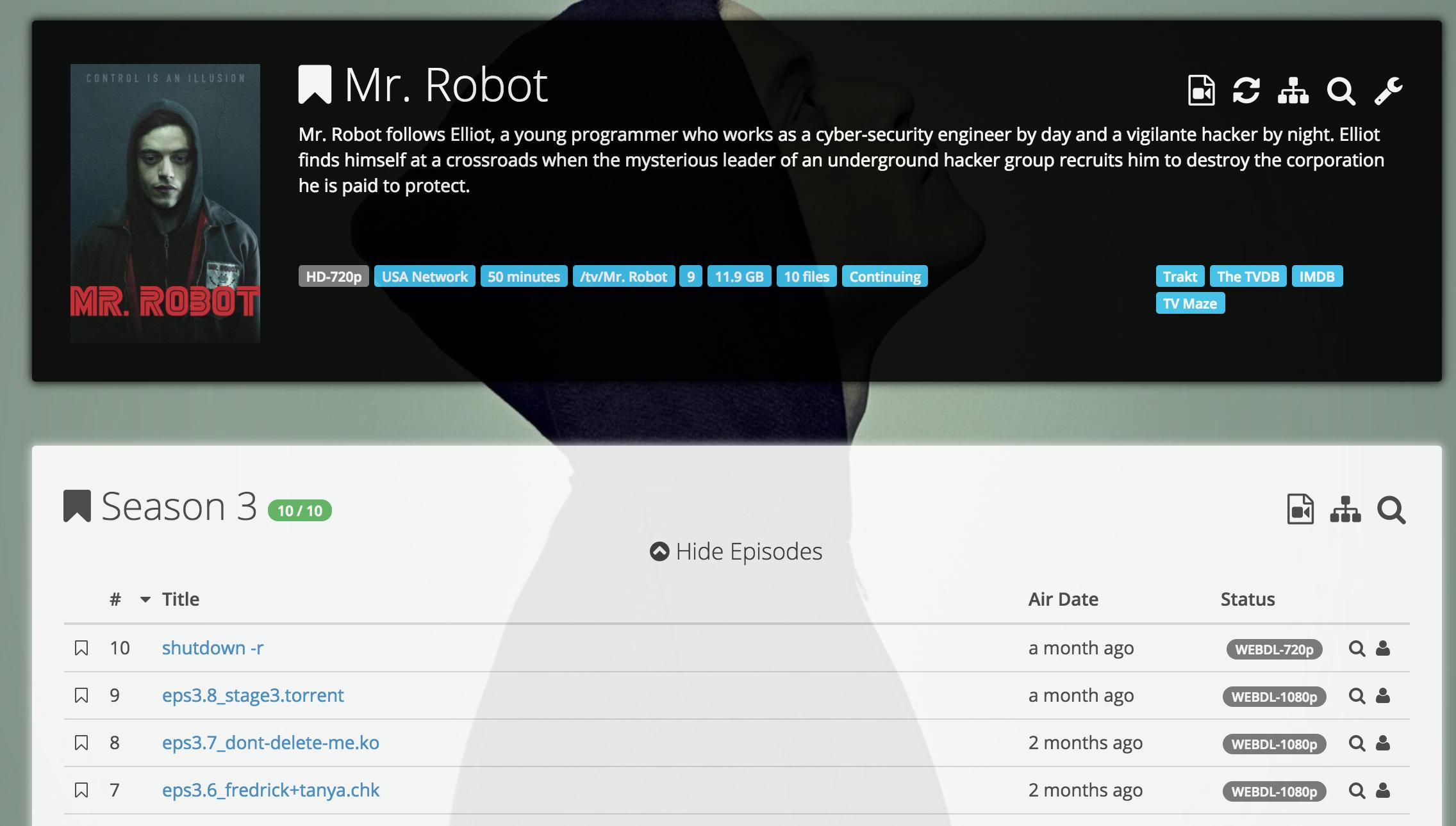 Monitor Mr Robot season 1