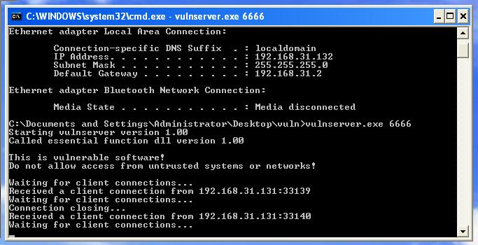 Image of Windows IP Config