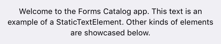 Static Text Element