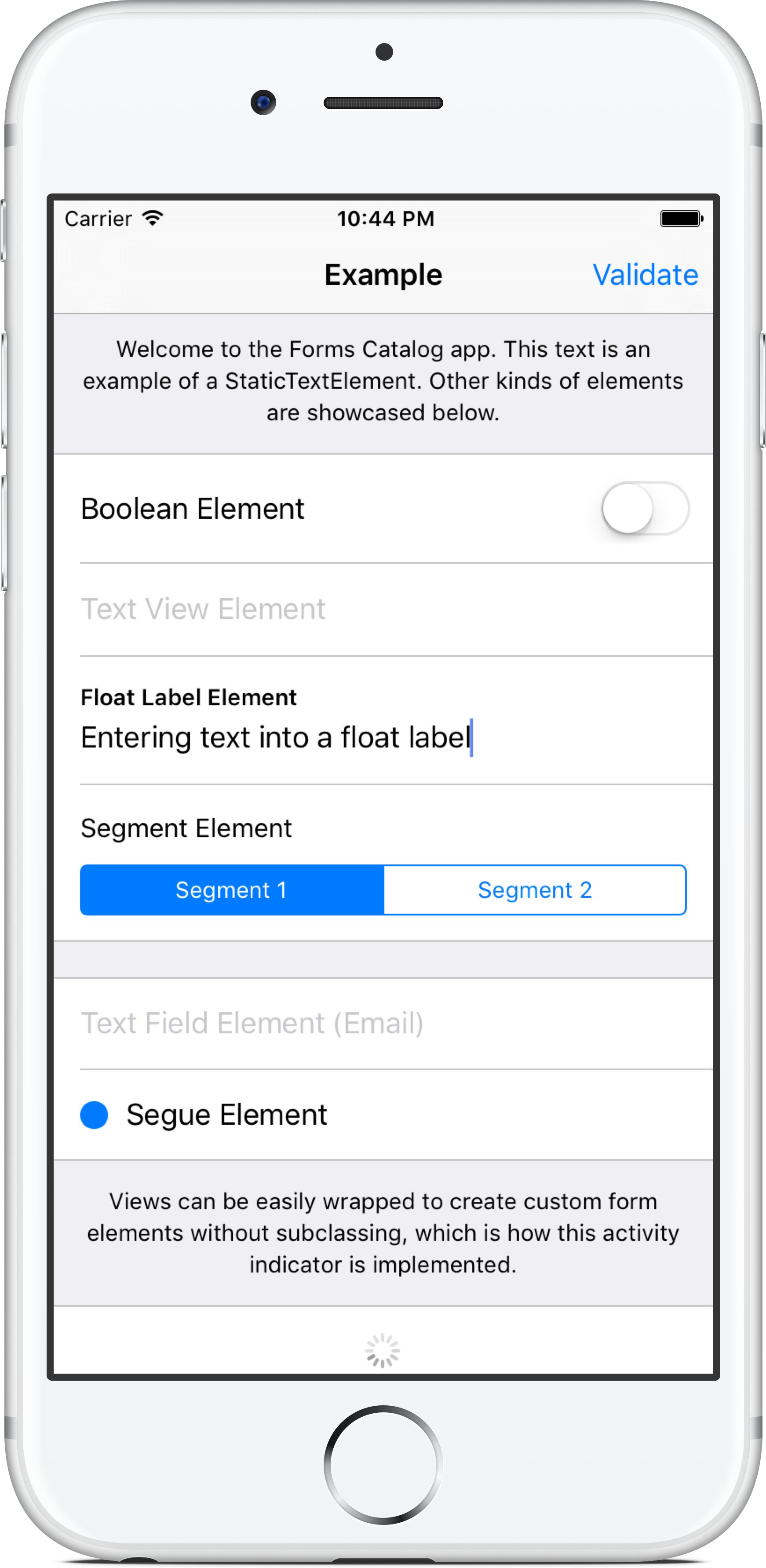 Formalist Example App