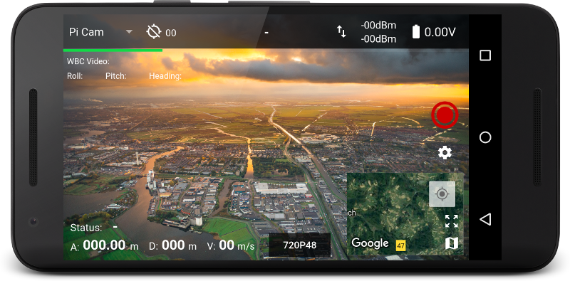 DroneBridge for Android app interface