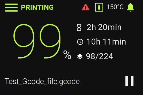 RepPanel print job status display