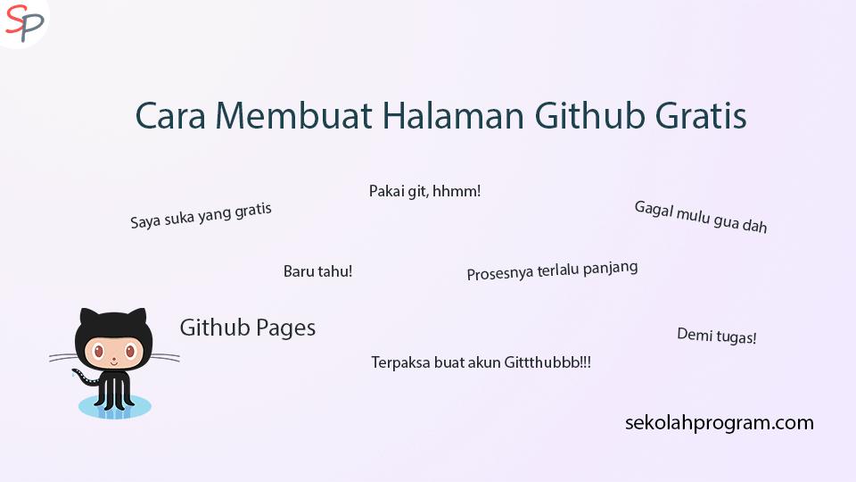 Cover Cara Membuat halaman Github Gratis