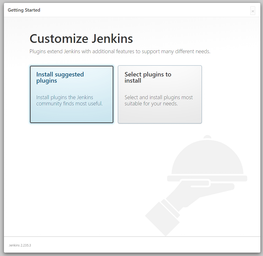 Jenkins installation page