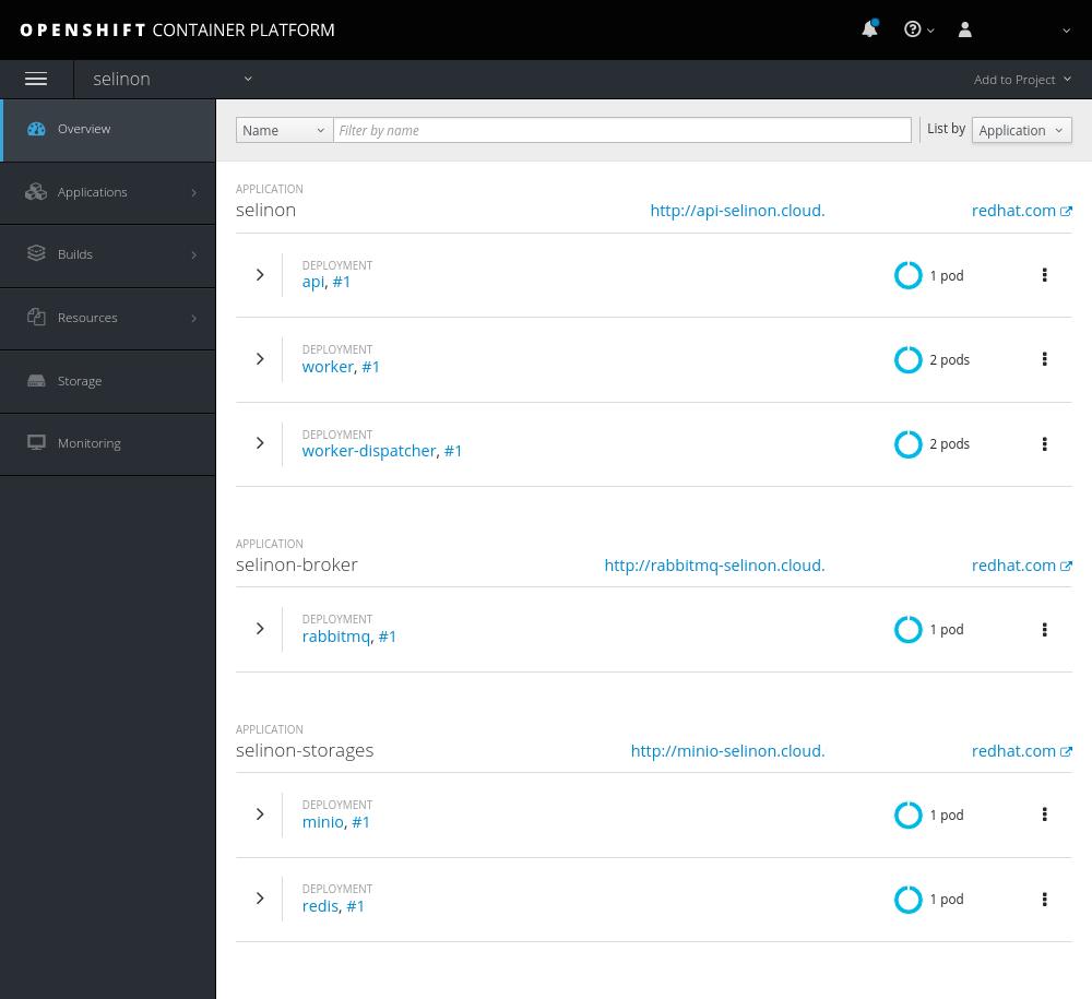 OpenShift deployment