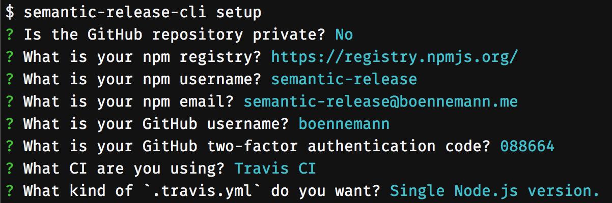 semantic-release-cli