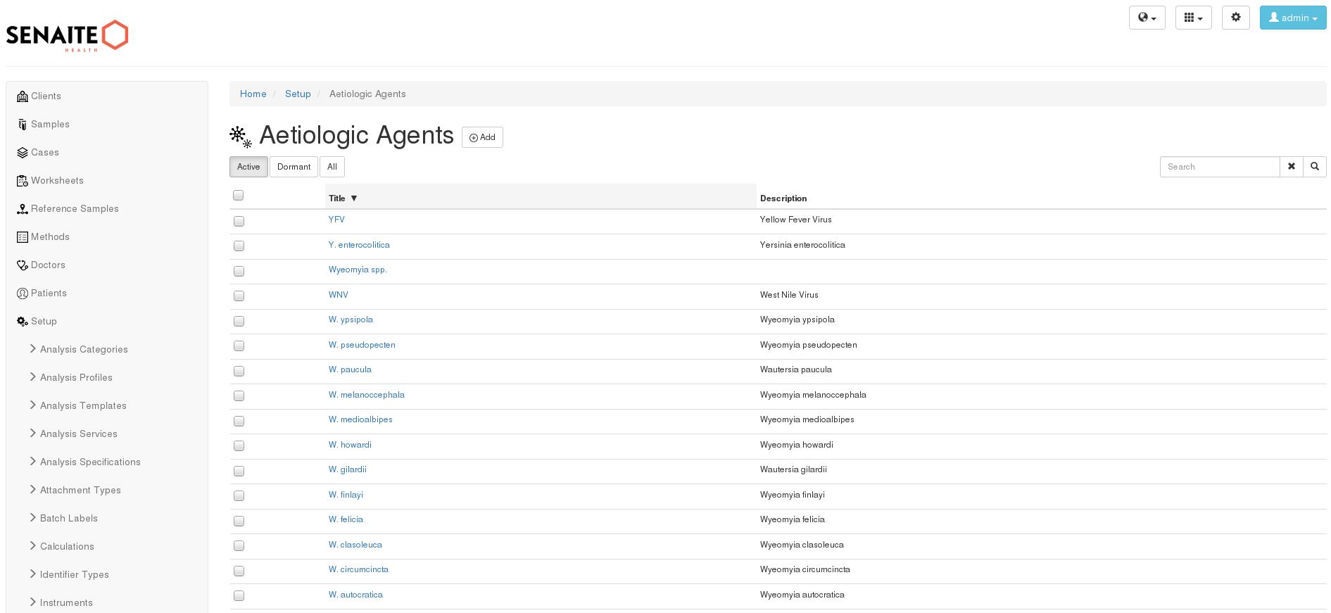 Aetiologic agents