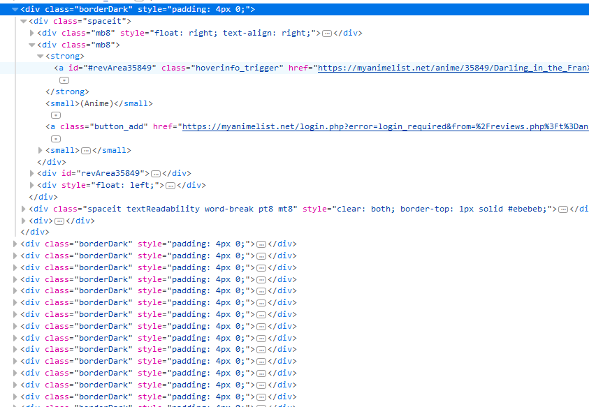 Web Scraping Anime Reviews into a SQL database - Coding Disciple