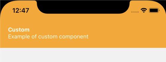 Demo of custom component