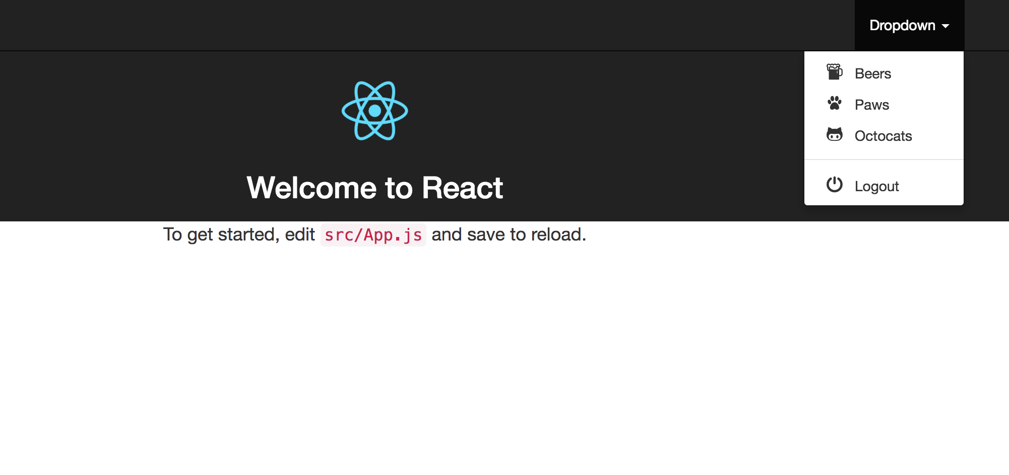 GitHub - sercanov/react-strapmenu: Bootstrap dropdown menu generator