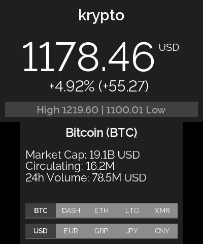Desktop stock cryptocurrency ticker autostart