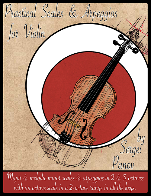 Practical scales and arepggios for violin image of the cover