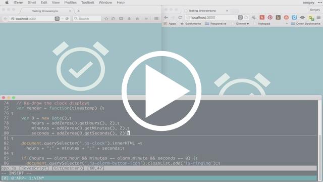 Working on web app using Browsersync