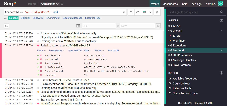 GitHub - serilog/serilog-sinks-seq: A Serilog sink that