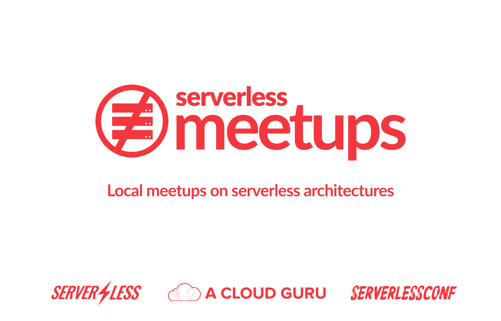 serverless meetups learn workshops architectures