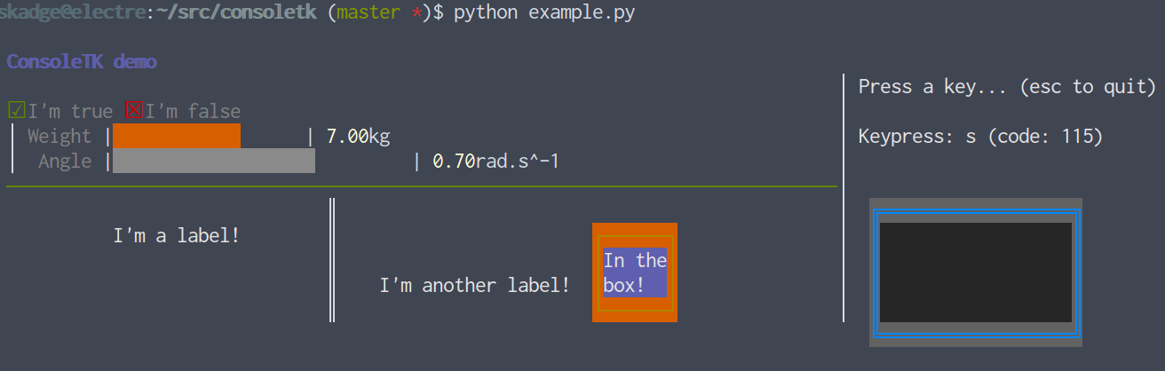 Output of example.py