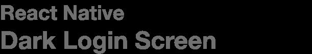 React Native Typescript Library Starter