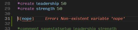 Test with an Error
