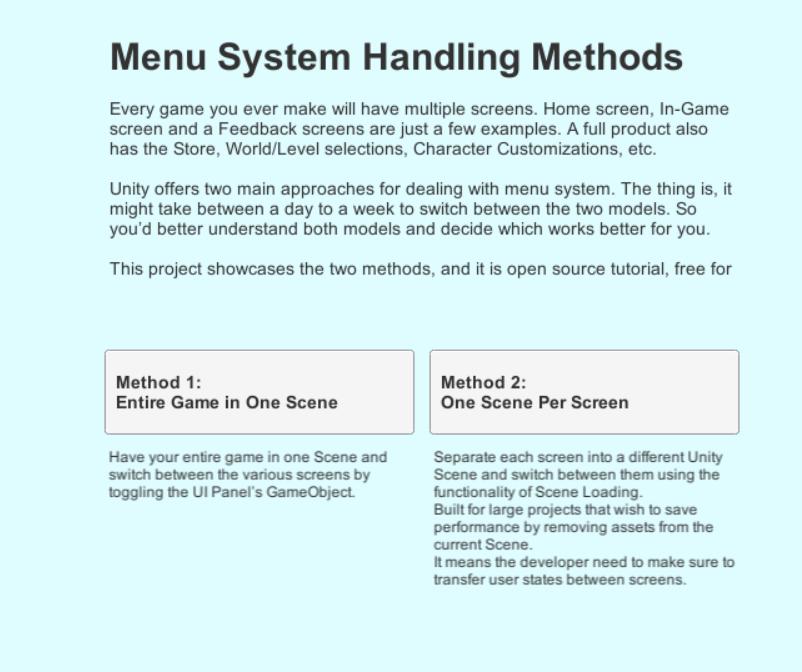GitHub - shacharoz/Learning-Unity-Menu-System: free to use