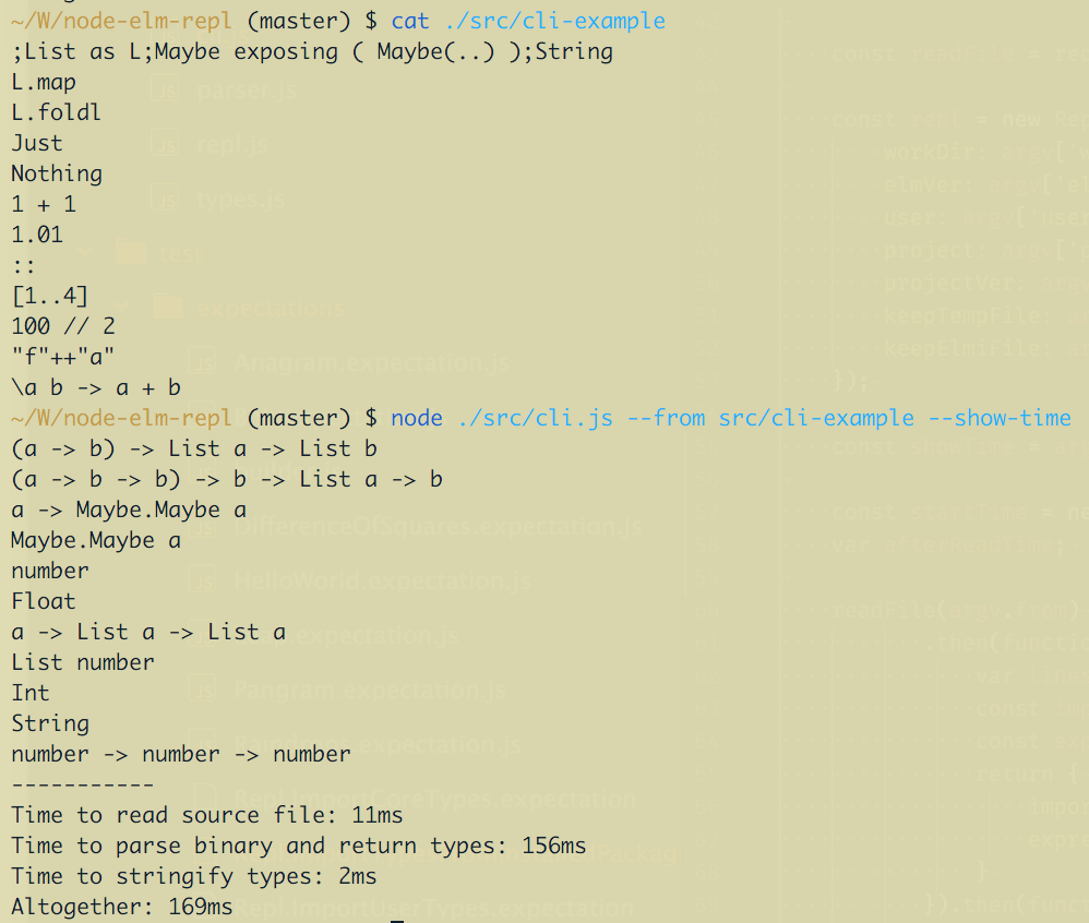 Example from CLI