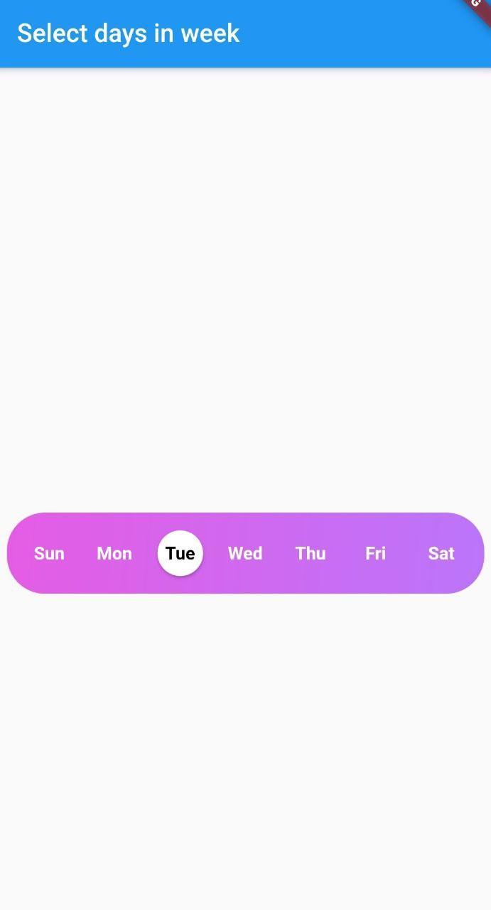Screenshot week day picker