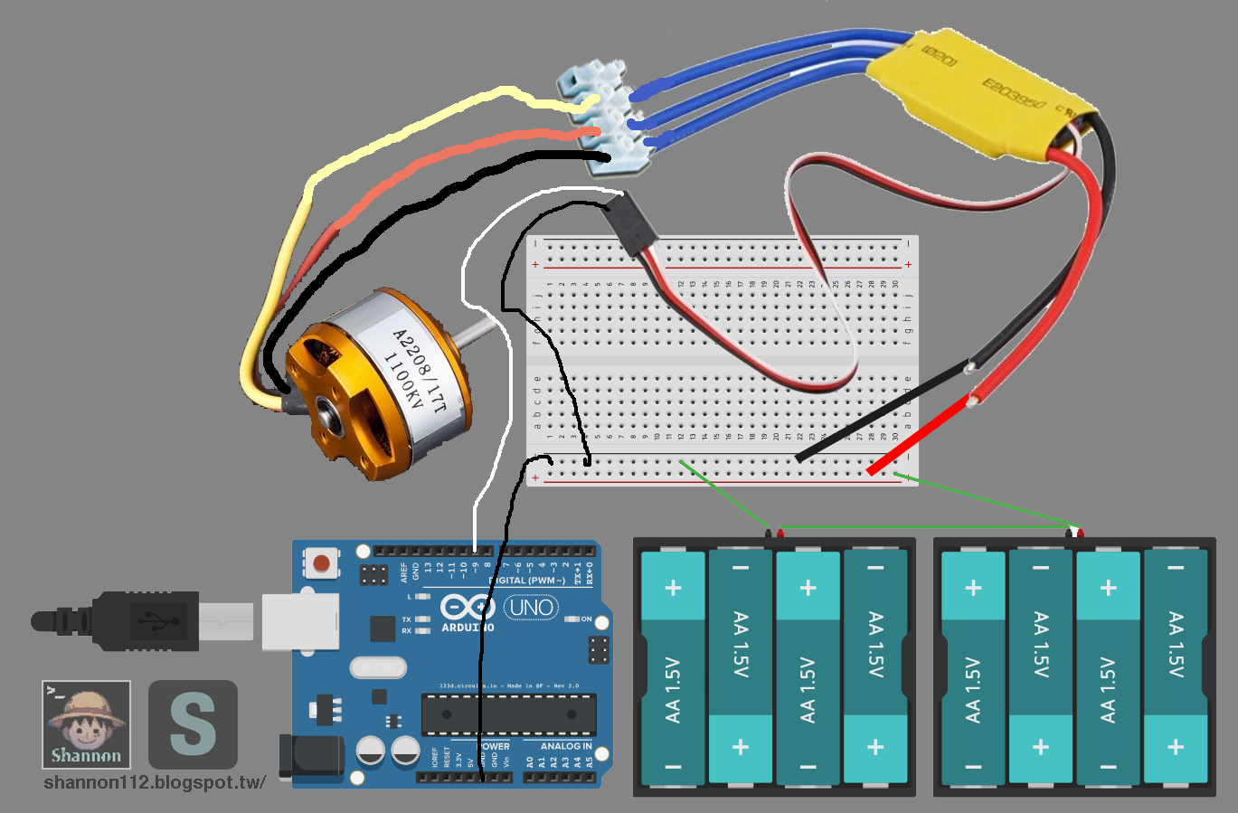 how to connect esc to arduino