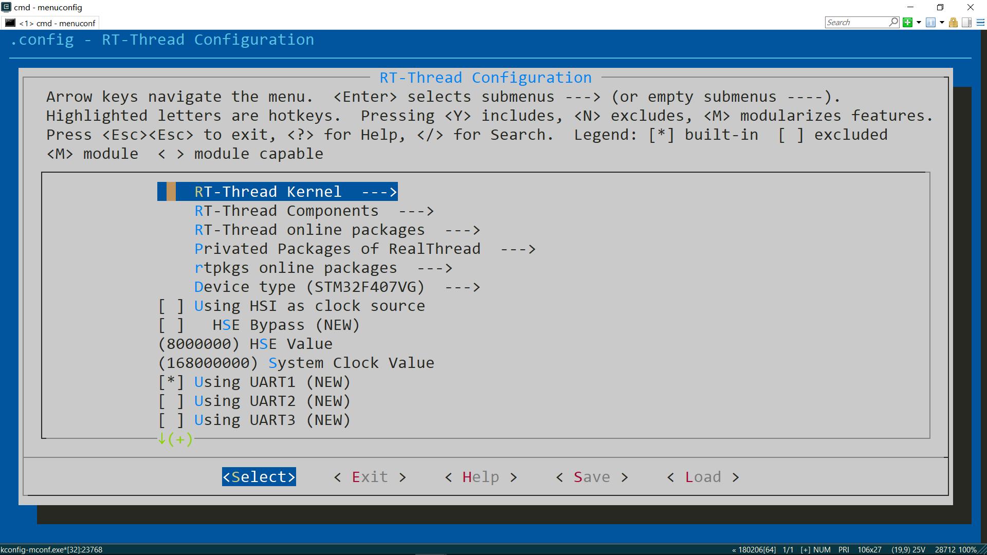图6 menuconfig 界面