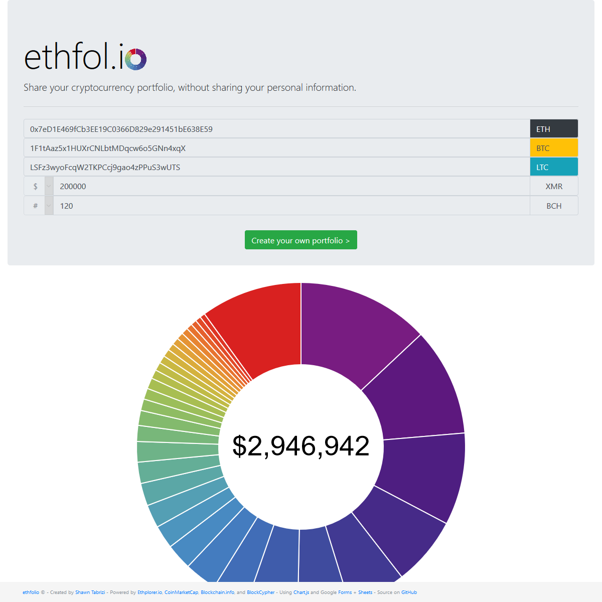 ethfolio Screenshot