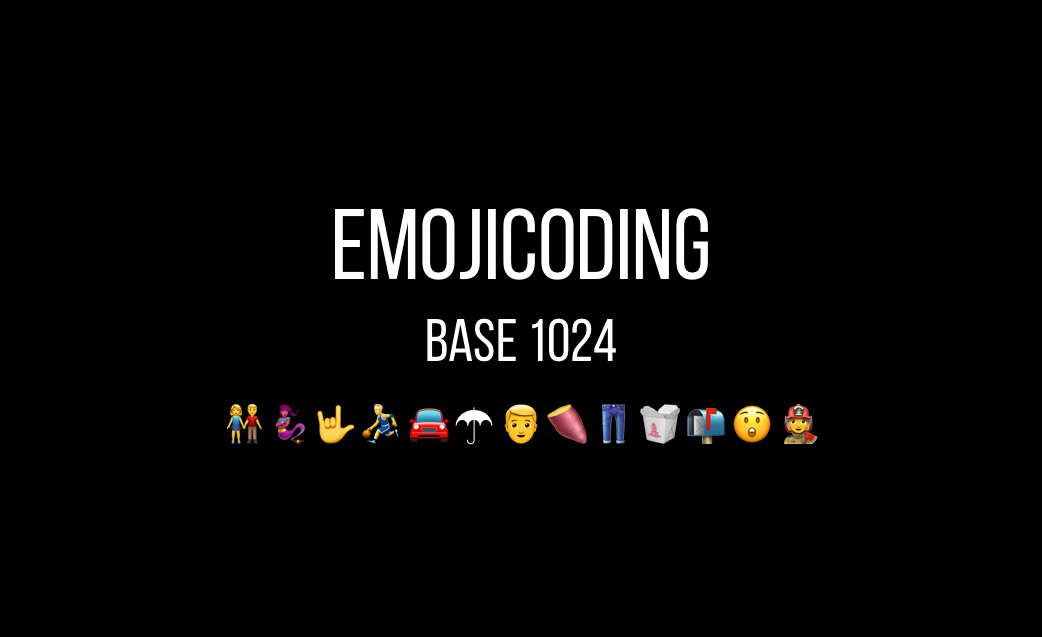 Emojicoding: Base 1024