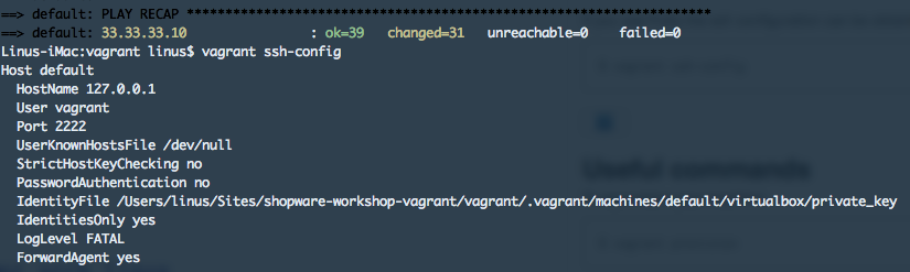 vagrant-ssh-config