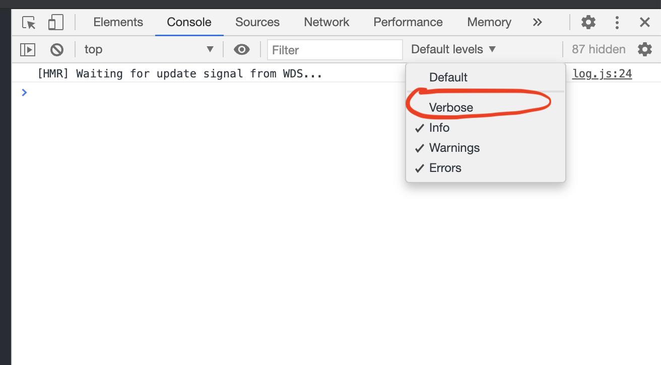 Enabling vebose in Chrome