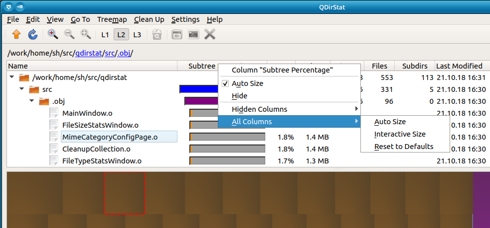 Tree Column Configuration Screenshot