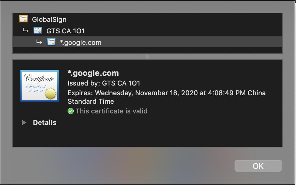 Google Certs
