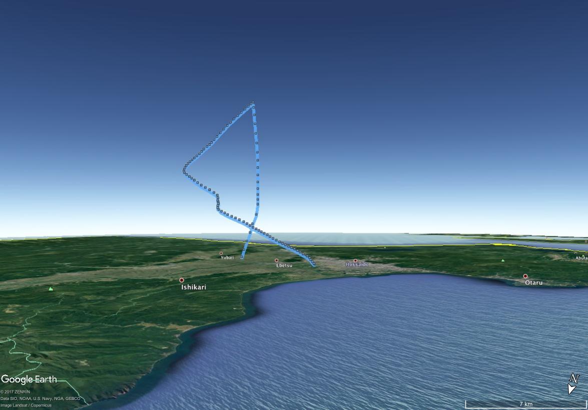 flight path in 2017.07.01
