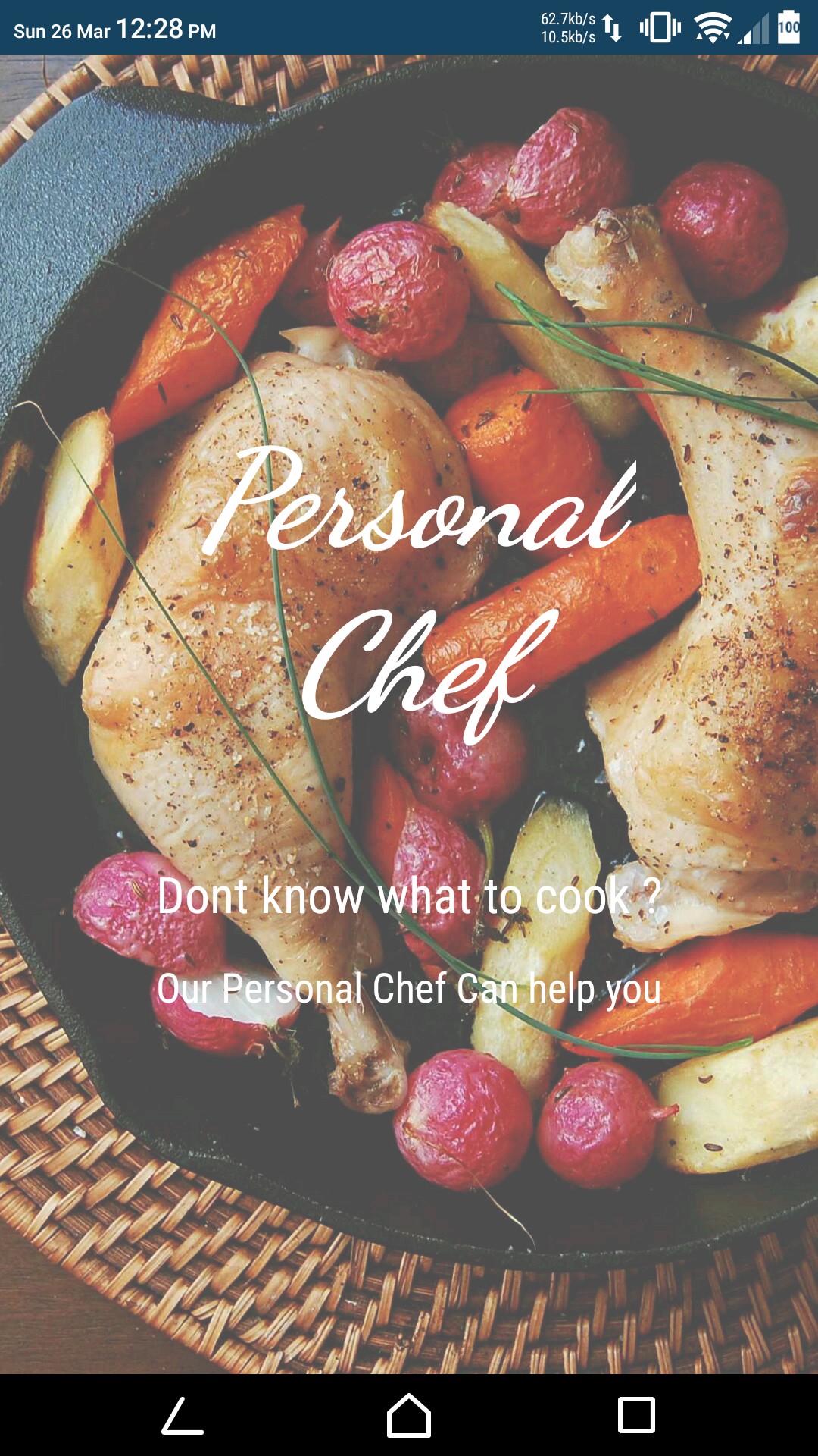 Github sid24ranepersonal chef an self learning ai chatbot who splash screen forumfinder Images