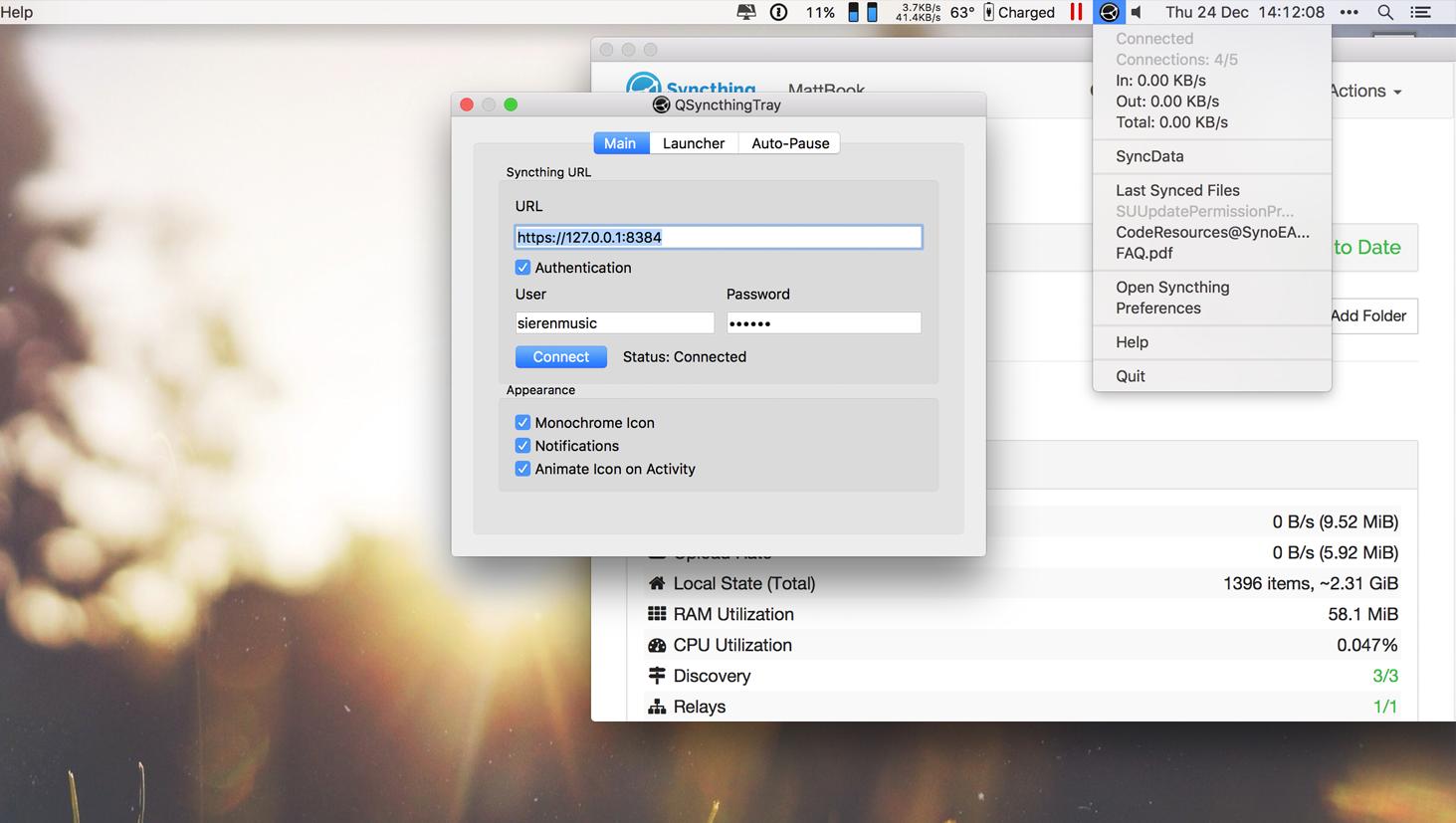 GitHub - sieren/QSyncthingTray: A OS X / Windows / Linux Tray App