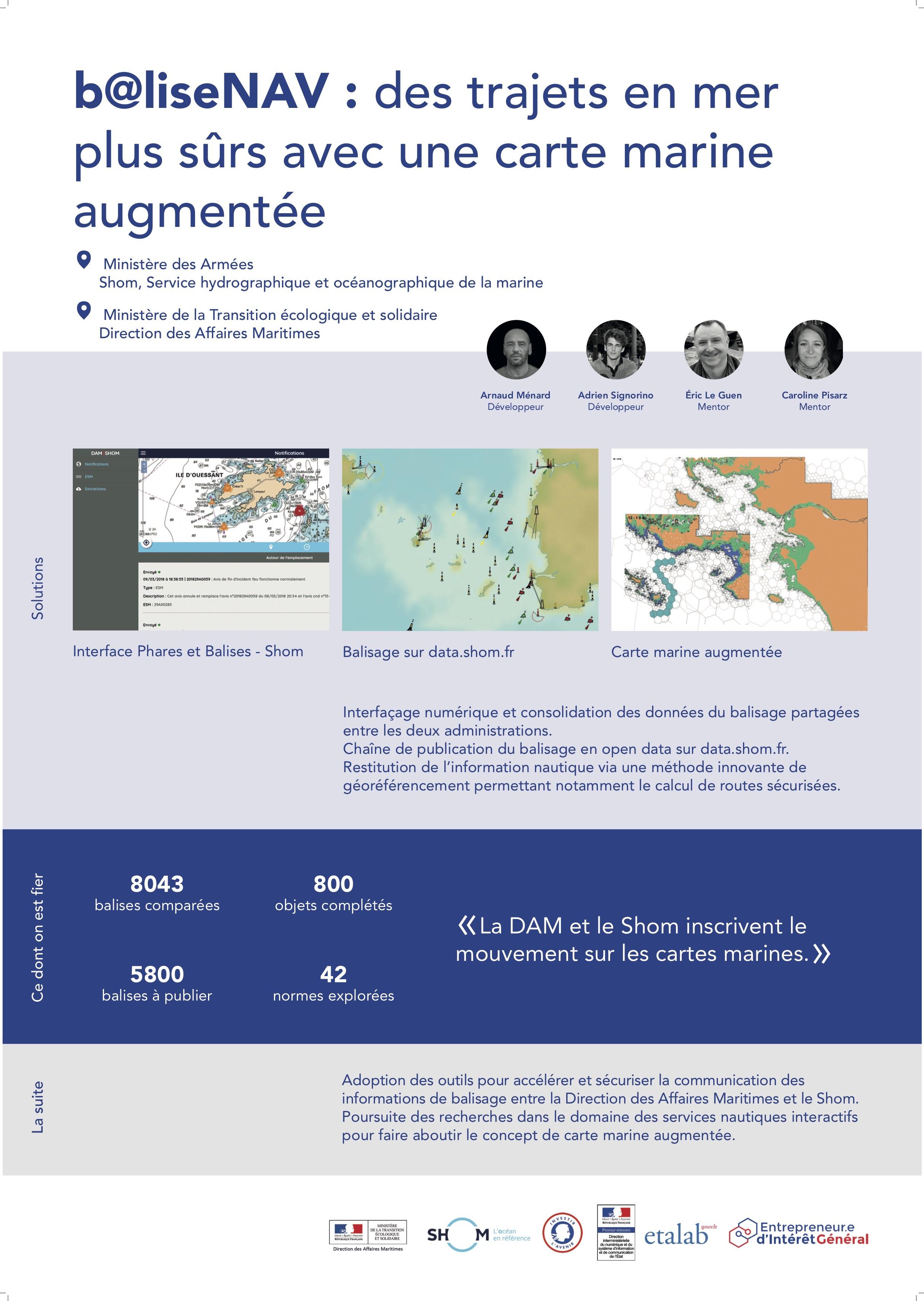 Entrepreneur d'Intérêt Général - b@liseNAV : des trajets en mer plus sûrs avec une carte marine augmentée