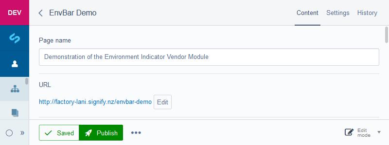Dev CMS Page