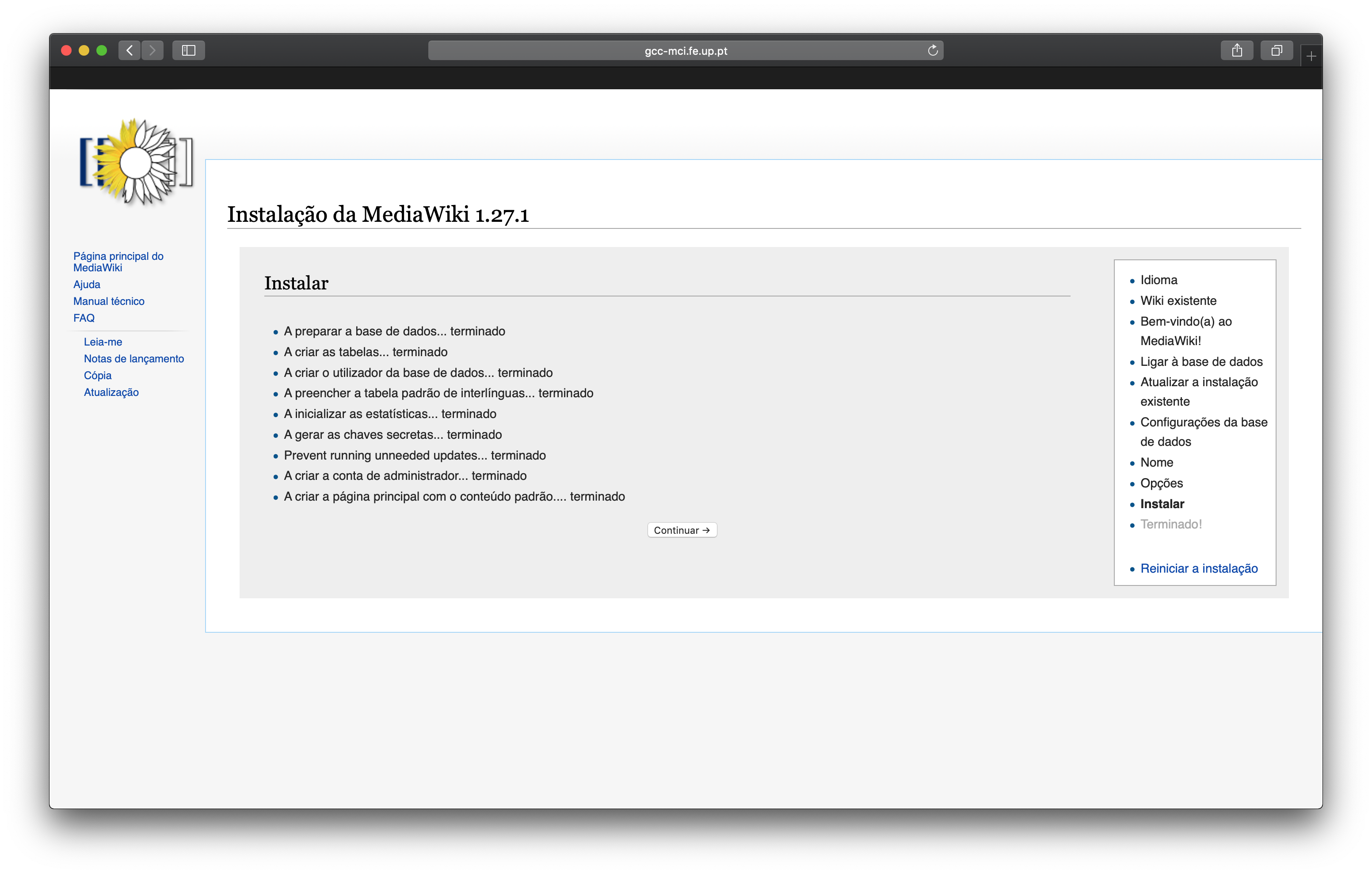 Mediawiki Setup Install Finished