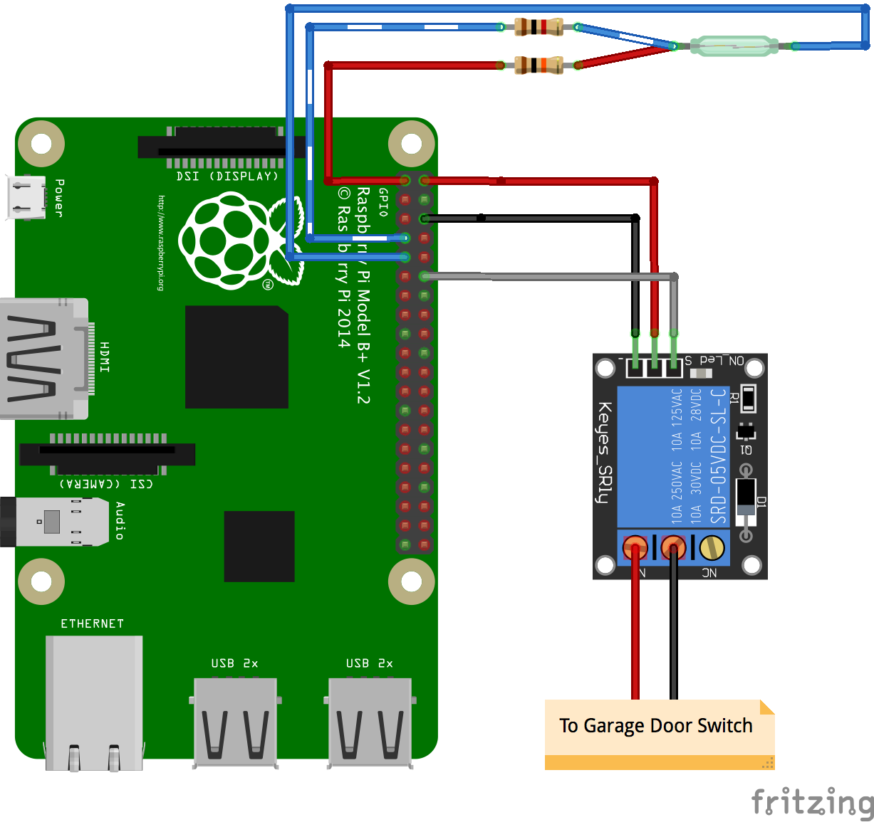 Rpi Garage Door on relay wiring raspberry pi