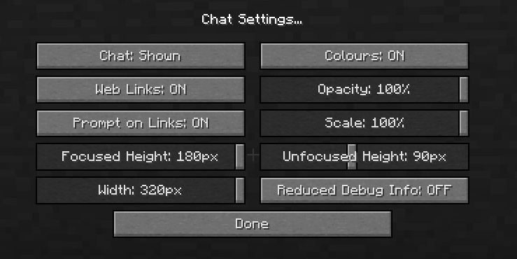 Client chat settings