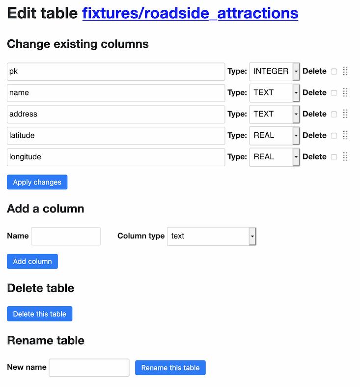 datasette-edit-schema interface