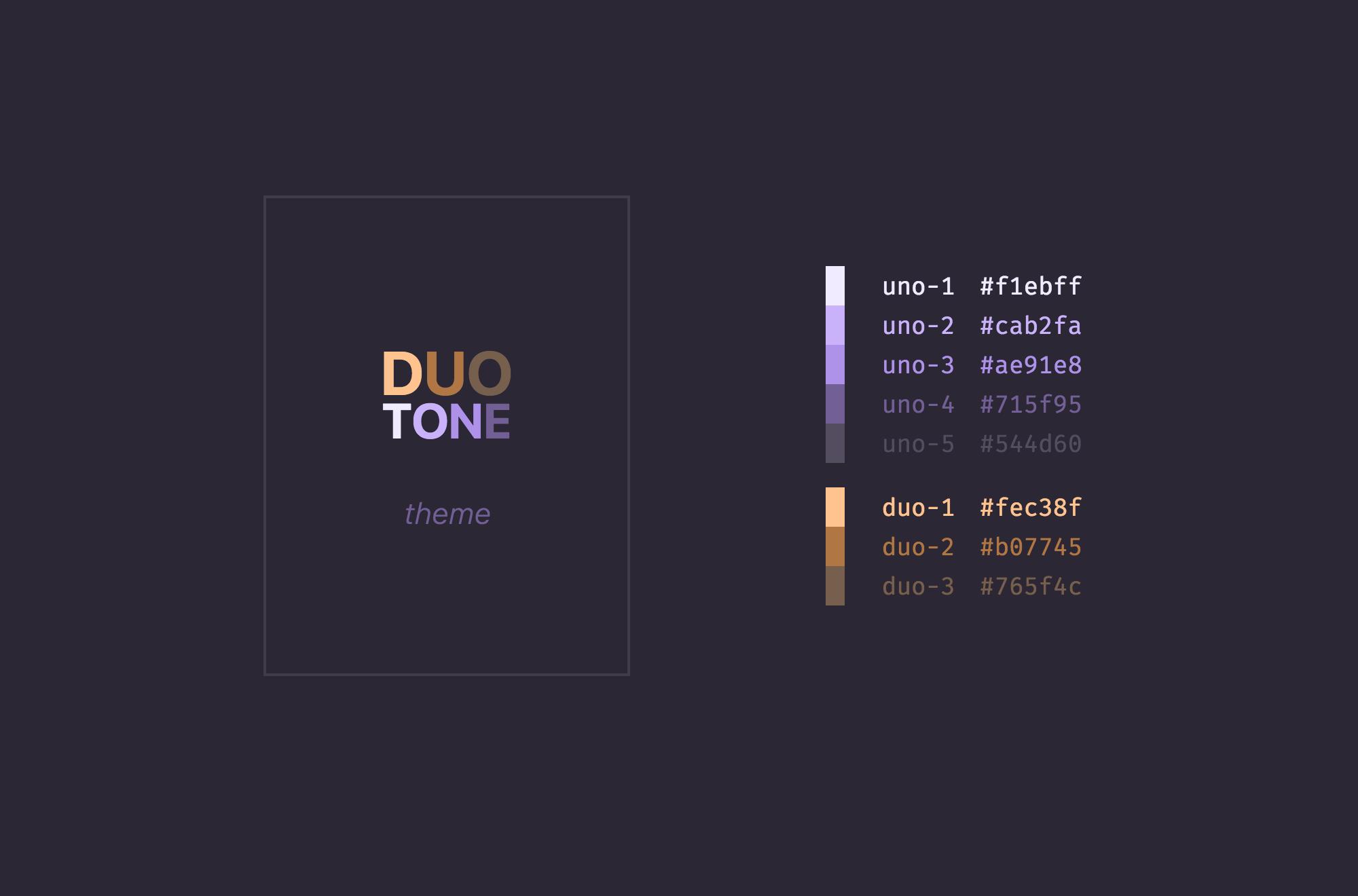 DuoTone Theme
