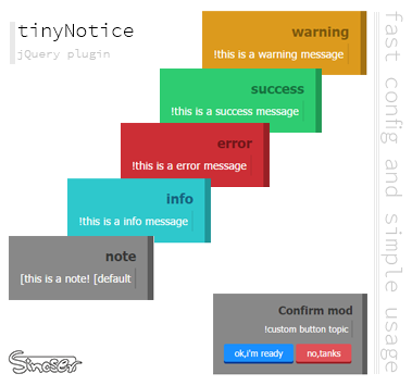 tinyNotice jQuery plugin -  Mr.sinoser