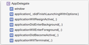 Methods in Xcode jump bar